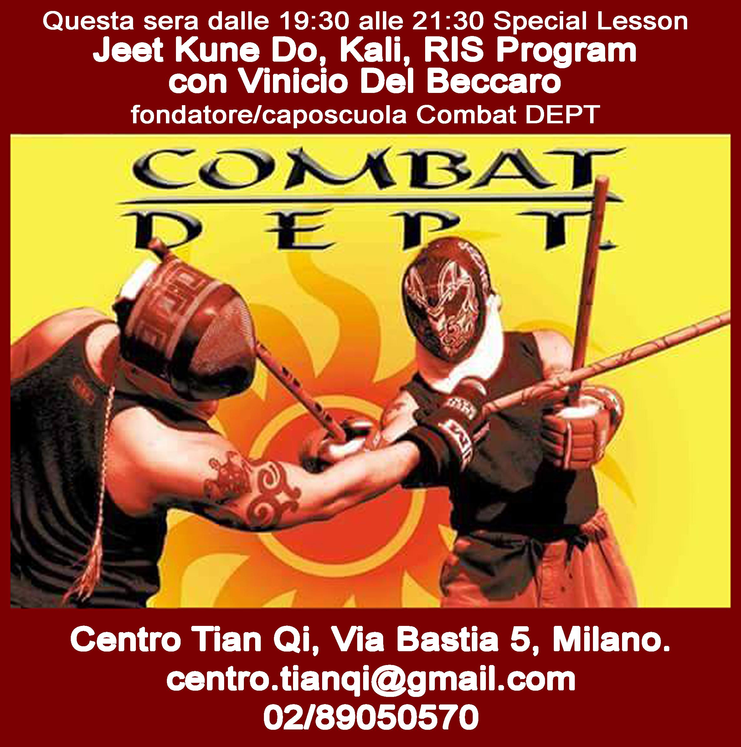 8/3/2016 special lesson jeet kune do, kali, ris program con vinicio del beccaro