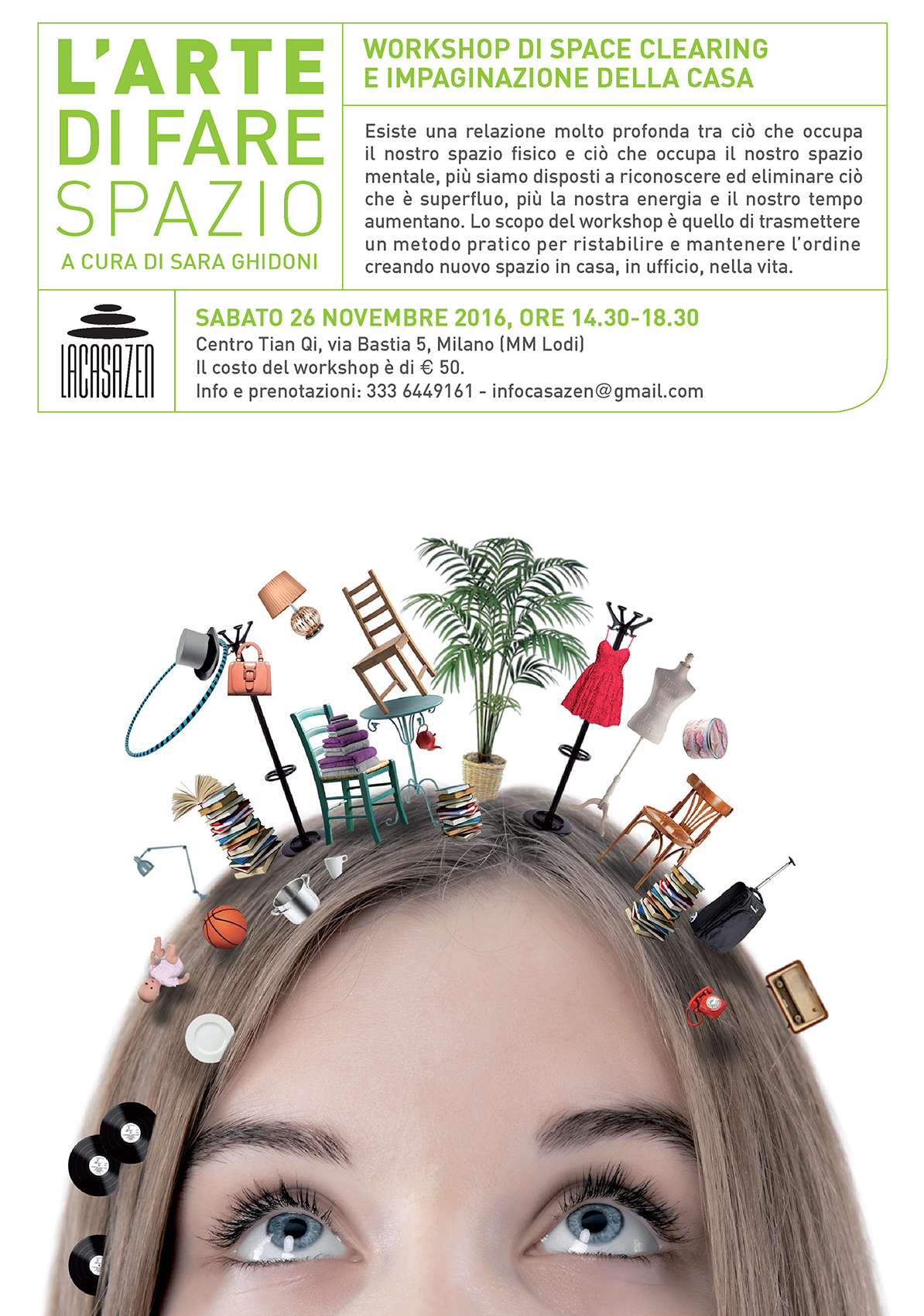 26/11/2016: l'arte di fare spazio - workshop di space clearing a cura di sara ghidoni