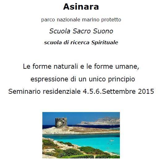 Seminario della Scuola Sacrosuono sull'isola dell'Asinara